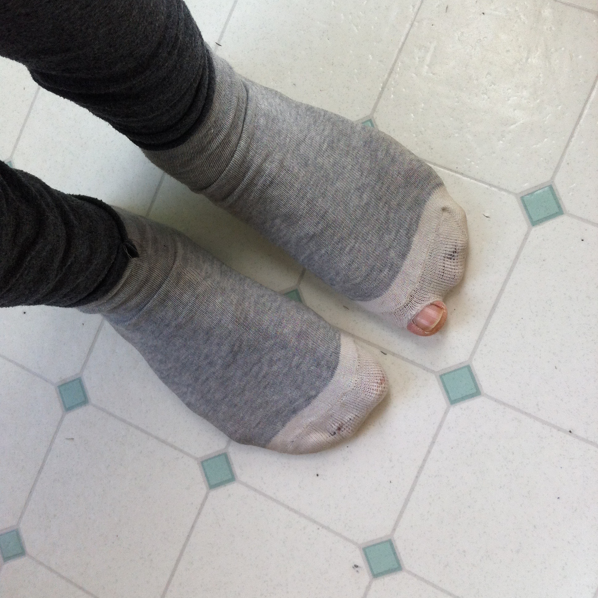 100% authenticated cheapest convenience goods Standing and Project 61: Ugly Alignment socks made from ...